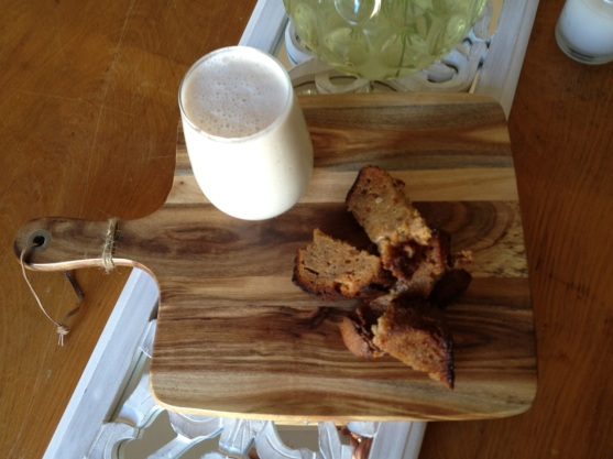 Banana Bread and Banana Smoothie