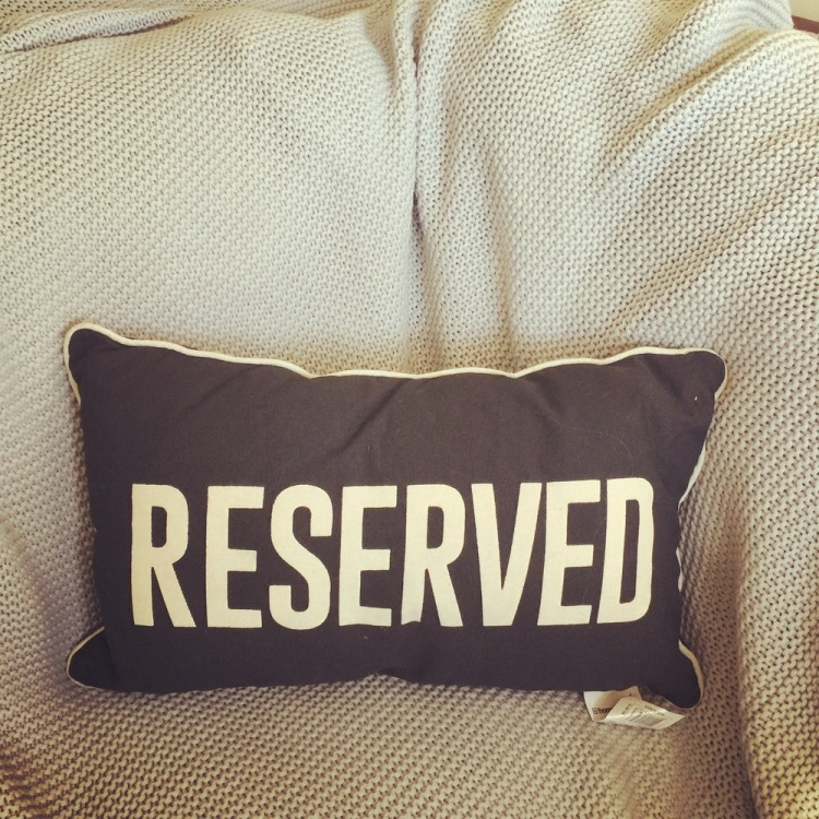I have a seat reserved for you.