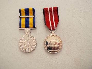 Jack's Dad's Medal and Jack's Medal.
