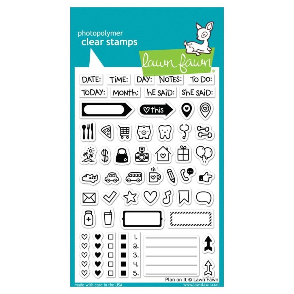 LF1129_PLAN_ON_IT_CLEAR_STAMP_SET_-_LAWN_FAWN